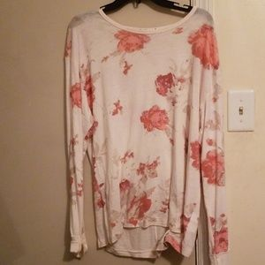 Free People Arielle Floral Long Sleeve Sweater